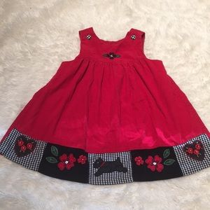 Other - Fun warm holiday couroroy dress for 24mos